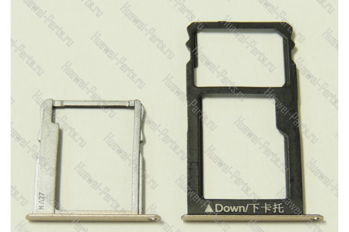 Запчасти Huawei: Лоток (держатель) sim и sd карт Huawei Honor 5x золотой