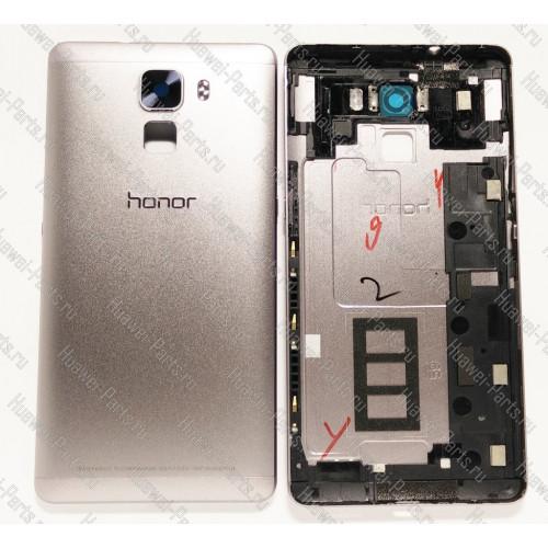Запчасти Huawei: Задняя крышка корпуса Huawei Honor 7 (серая/тёмная/антикризис)