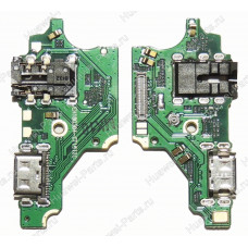 Запчасти Huawei: Нижняя плата с системным разъёмом Huawei P20 Lite