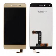 Дисплей для Huawei Honor 5A / Y5 II в сборе с тачскрином золотой