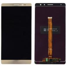 Дисплей для Huawei Mate 8 в сборе с тачскрином золотой