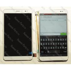 Запчасти Huawei Meizu Дисплейный модуль Huawei Mediapad X1 белый (на раме)