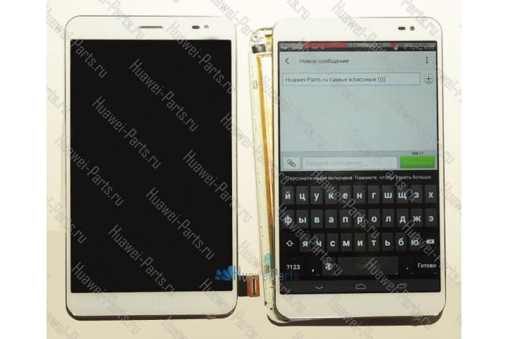 Запчасти Huawei: Дисплейный модуль Huawei Mediapad X1 белый (на раме)