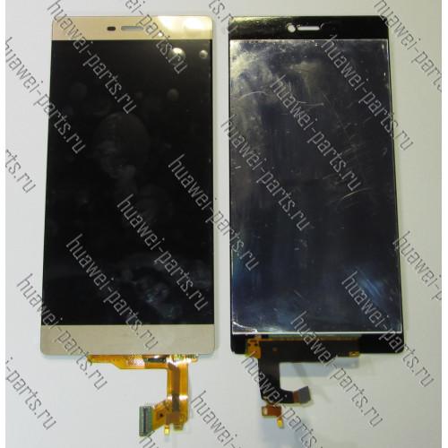 Запчасти Huawei: Дисплейный модуль Huawei P8 standart золотой
