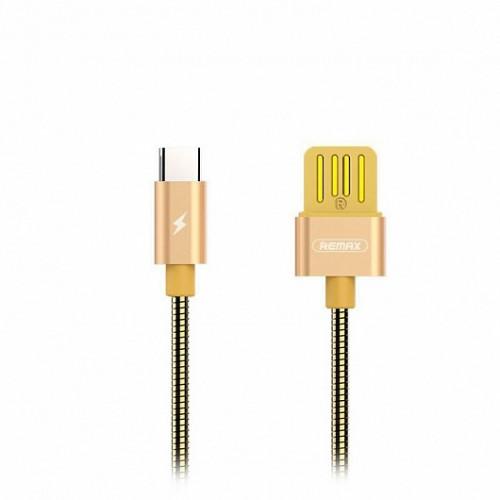 Запчасти Huawei: Кабель USB/Type-C Remax RC-080a Золото