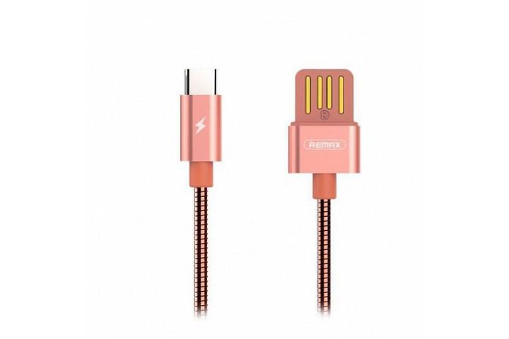 Запчасти Huawei: Кабель USB/Type-C Remax RC-080a Розовый